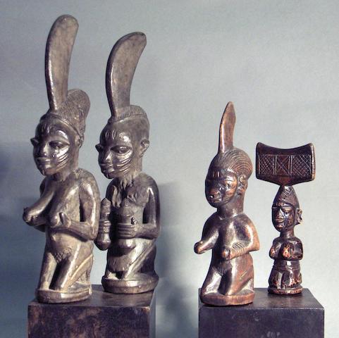Four Yoruba staffs Nigeria 4