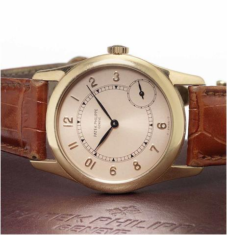 Patek Philippe. A fine 18ct rose gold automatic wristwatchRef.5000, Sold 17th August 2006
