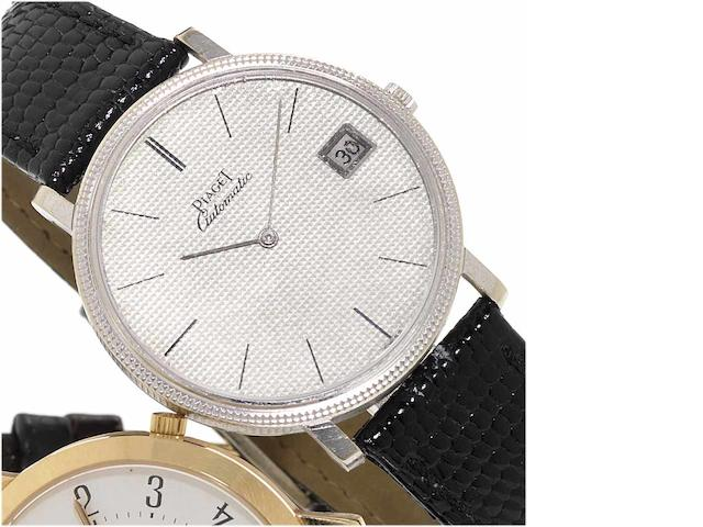 Piaget. A fine 18ct white gold automatic calendar wristwatch Birmingham Import mark for 1969