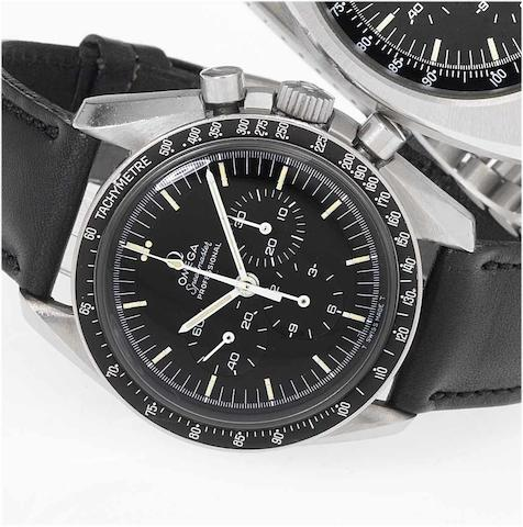 Omega. A fine stainless steel chronograph wristwatch Speedmaster, Movement No.31320746, Case No.14502269ST, 1970's