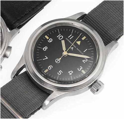 IWC. A fine stainless steel military issue centre seconds wristwatch'Mark XI' Issued in 1950