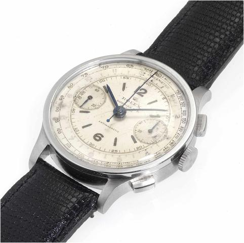 Rolex. A fine and rare stainless steel chronograph wristwatch Ref:2508, 'Antimagnetic' Case No.041271, circa 1940
