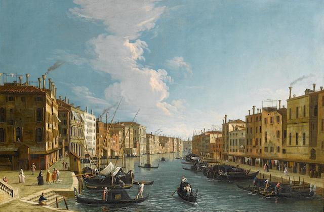 Apollonio Domenichini, alternatively identified as Master of the Langmatt Foundation Views (active Venice circa 1740-176 The Grand Canal, Venice,