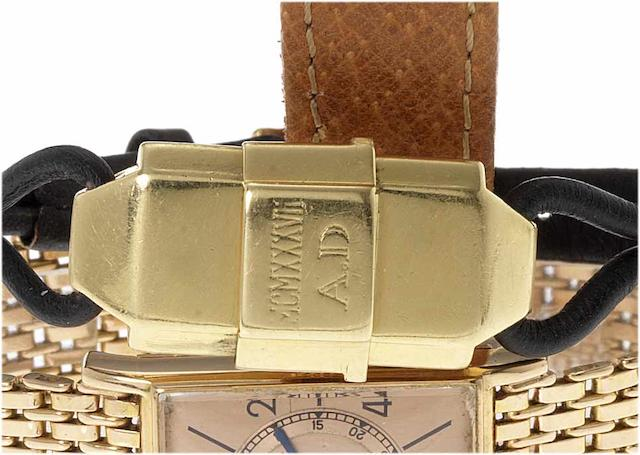 Cartier. A fine and rare lady's 18ct gold concealed dial wristwatchLondon Import Mark for 1935, Ref:2746, Case No.70855