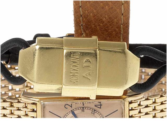 Cartier. A fine and rare lady's 18ct gold concealed dial wristwatch London Import Mark for 1935, Ref:2746, Case No.70855