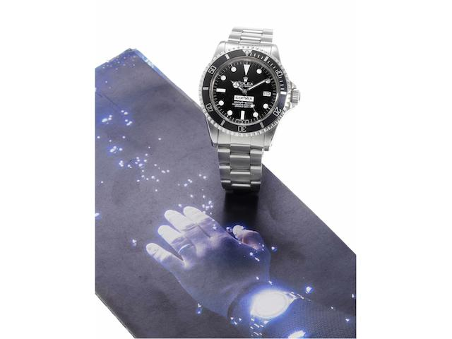 Rolex. A rare stainless steel automatic centre seconds divers watch made for Comex with stainless steel Rolex Oyster bracelet Sea-Dweller, 'Comex 2187' Ref:1665, Case No.6193062, 1979