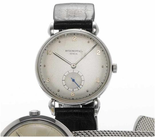 Patek Philippe. A fine and rare stainless steel wristwatch Ref:1461, Case No.646308, Movement No.951668, 1955 circa