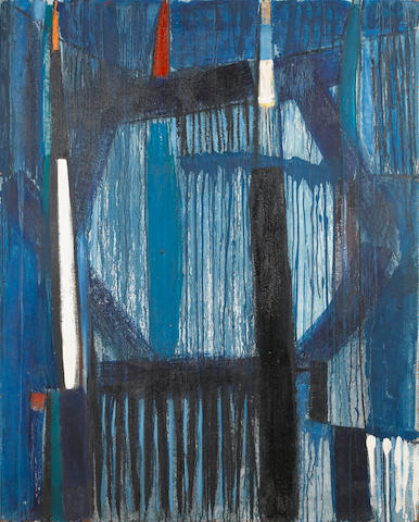Sir Terry Frost R.A. (British, 1915-2003) Blue 1957 152.5 x 122 cm. (60 x 48 in.)