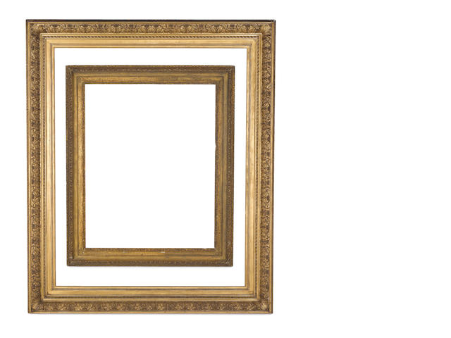 An English late 19th Century gilded composition frame