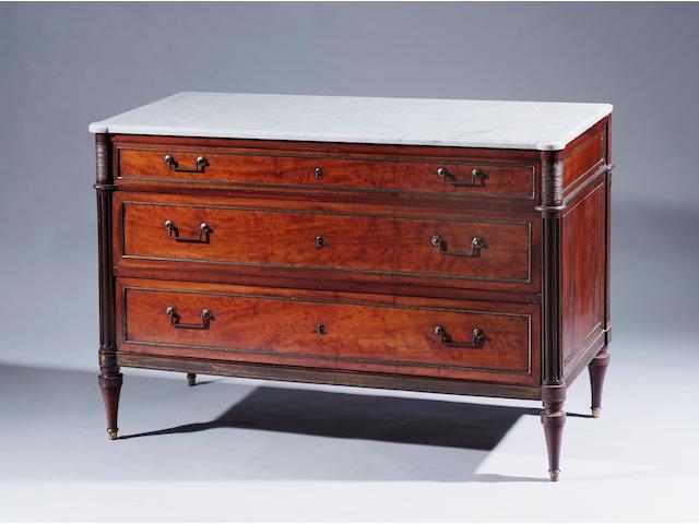 A French mahogany commode