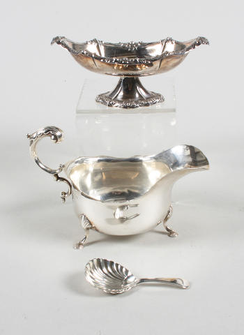 A George III silver caddy spoon By William Eley and William Fearn,  London,  1807,