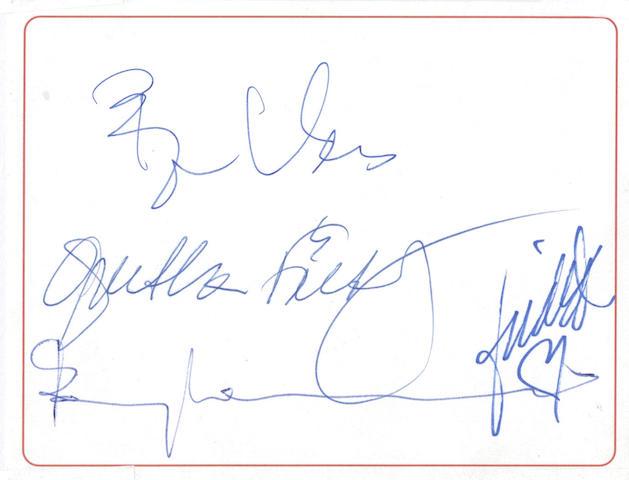 A set of Abba autographs,