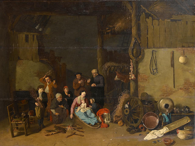 Hendrick Potuyl (active in the Netherlands 1639, died 1660) A barn interior