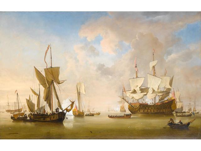 Willem van de Velde the Younger (Leiden 1633-1707 Greenwich) The Evening Gun: