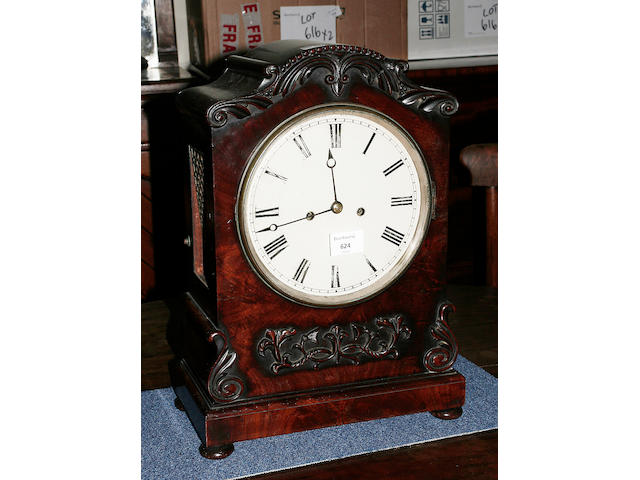 A mahogany bracket clock circa 1830