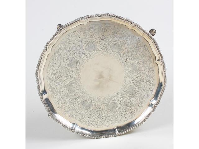 A George III silver salver By John Chapman II, London, 1776,