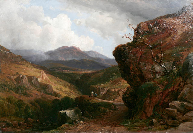 "John Frederick Tennant (British, 1796-1872) ""Lion Rock - Cheddar Cliffs"""