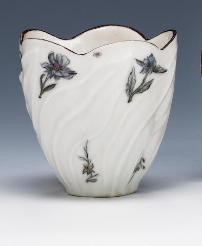 A rare Chelsea beaker Circa 1750-52.