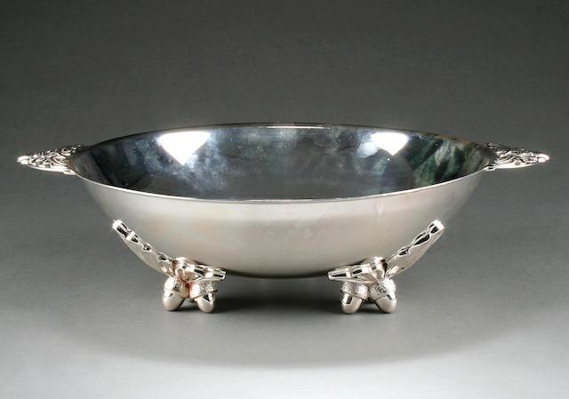 A large circular bowl, by Thomas Bradbury and Sons, Sheffield 1960