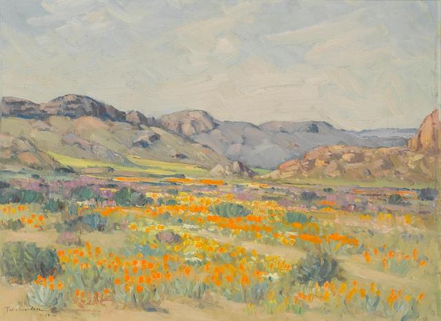 Piet (Pieter Gerhardus) van Heerden (South African, 1917-1991) Namaqualand in spring