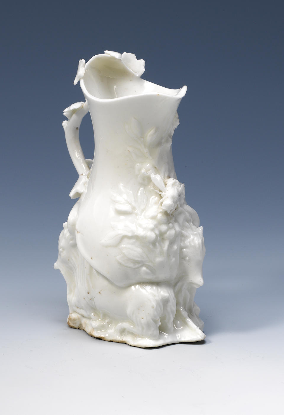 A good Chelsea white 'Goat and Bee' jug Circa 1745-47.