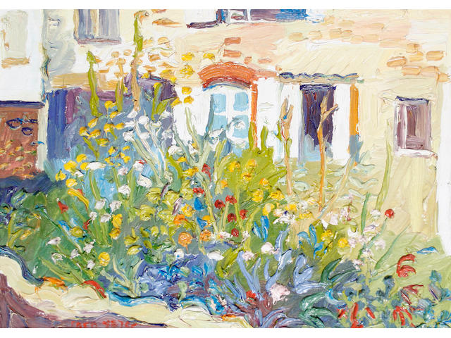 Fred Yates (British, born 1922) French Garden, Rancon