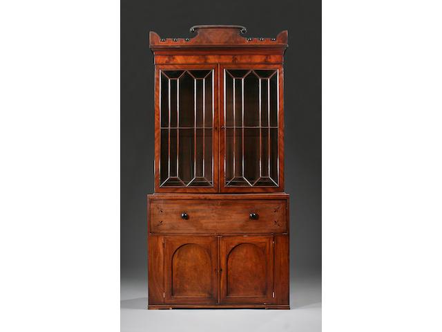 A Regency mahogany secrètaire bookcase