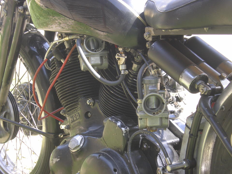 c.1950 Vincent 998cc Rapide Racing Motorcycle  Frame no. RC/1/5445 Engine no. F10AB/1/2125