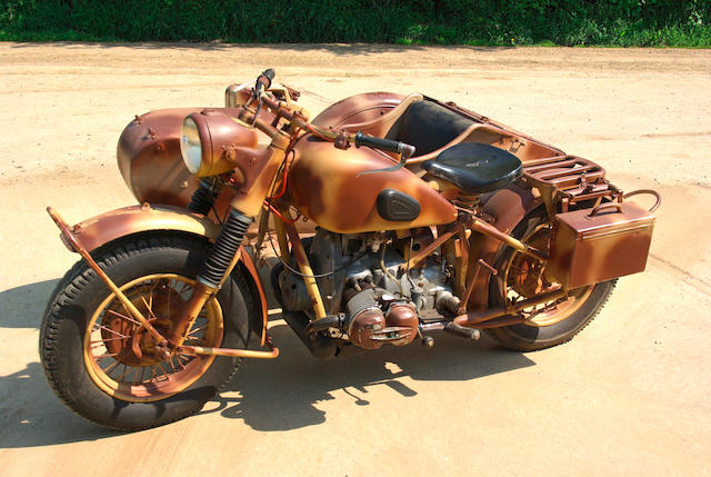 1943 BMW 750cc R75 Military Motorcycle Combination