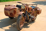 1943 BMW 750cc R75 Military Motorcycle Combination  Frame no. 763866 Engine no. 763866