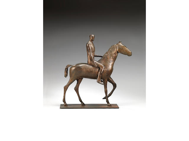 Dame Elisabeth Frink R.A. (British, 1930-1993) Horse and Rider 51 cm. (20 in.) high (Conceived in 1970)