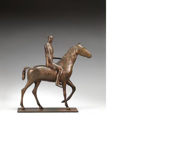 Dame Elisabeth Frink R.A. (British, 1930-1993) Horse and Rider 51 cm. (20 in.) high