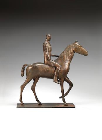 Dame Elisabeth Frink R.A. (British, 1930-1993) Horse and Rider 51 cm. (20 in.) high