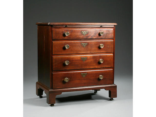 A small George II  mahogany chest of drawers