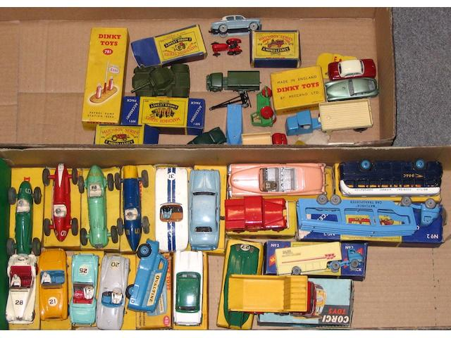 Dinky various 1950's cars and other vehicles qty