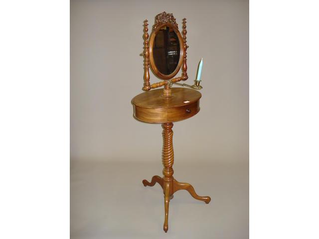 A Victorian mahogany shaving stand