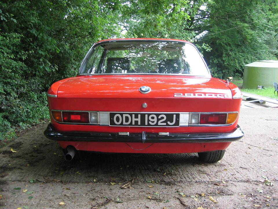 1971 BMW CS 2800 Coupé  Chassis no. 2205894 Engine no. 4866192