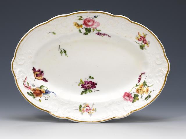 A rare Nantgarw dish Circa 1818-20.