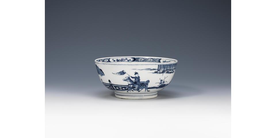 A rare Worcester 'Brigand' bowl Circa 1770.