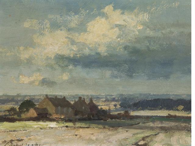 Edward Seago R.B.A., R.W.S. (British, 1910-1974) Landscape near Somerton