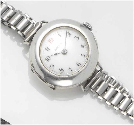 Rolex. A lady's silver wristwatch  London Hallmark for 1914
