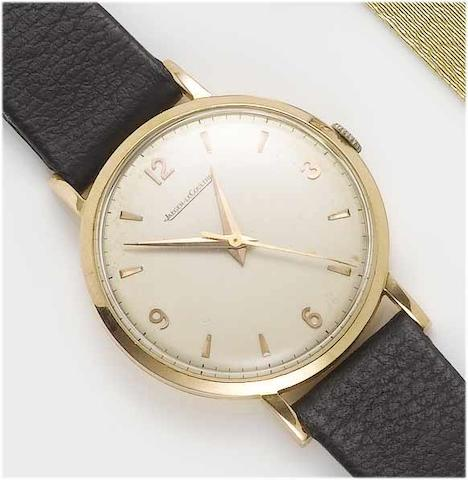 Jaeger LeCoultre. An 18ct rose gold centre seconds wristwatch 1950's