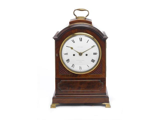 An English mahogany bracket clock Morice, Fenchurch Street, London