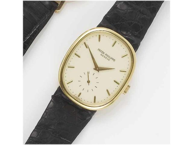 Patek Philippe. A fine 18ct gold wristwatch with fitted box Ellipse, Ref:3948, Case No.554517, Movement No.1332623, 1970's
