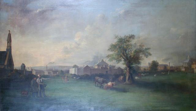 Alexander Wilson (British, 1803-1846) The Ten Acre Field, Heath, Cardiff