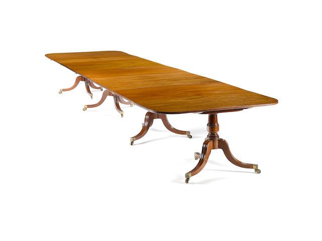 A good Regency four pedestal Dining Table