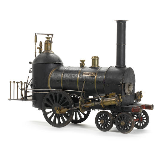 An important contemporary early 19th century 6in gauge model of the 4-2-0 locomotive 'Hercules' Probably built in England as a salesmans model to the design of William Norris, Philadelphia circa 1840.