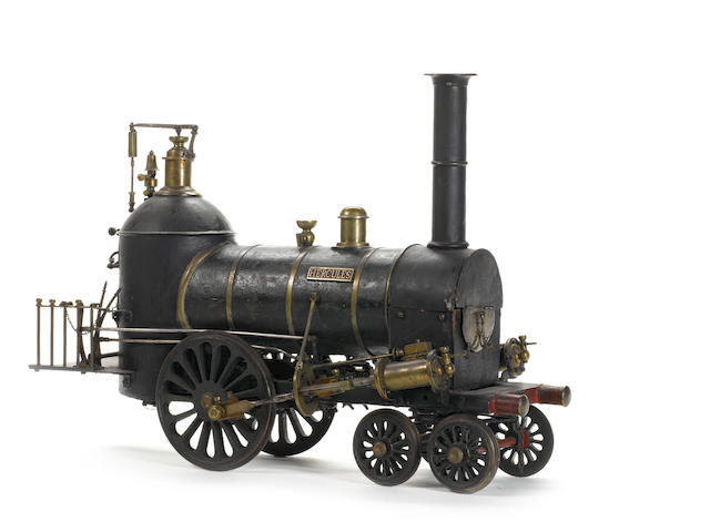 'Hercules' a 6in gauge model of a Norris 4-2-0 locomotive of circa 1840. Probably built for the Birm