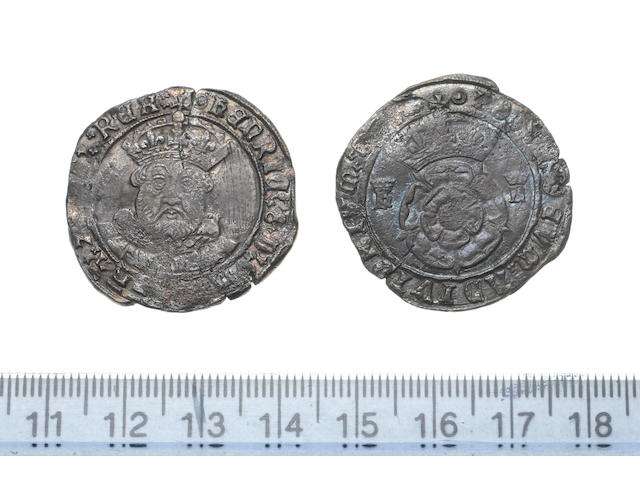 Henry VIII, third coinage (1544-47), Testoon, 7.3g, Tower, bust 3 crown bearded bust facing,