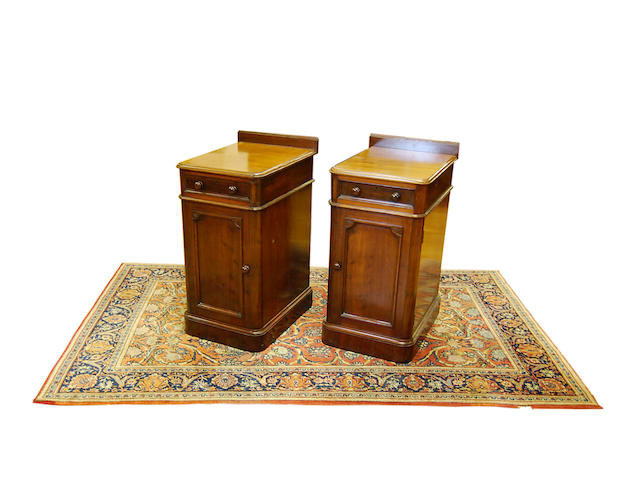 A pair of mahogany pot cupboards
